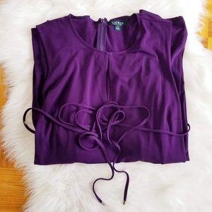 Lauren Ralph Lauren Pants - Ralph Lauren Purple Keyhole Sleeveless Jumpsuit